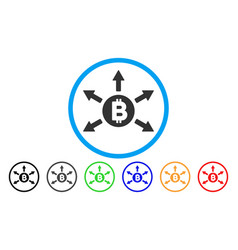 Bitcoin emission flat icon vector