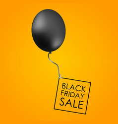 Black balloon on yellow background with vector
