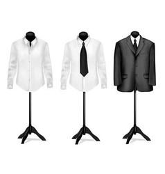 black suit vector image
