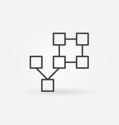 Blockchain technology concept icon or symbol vector