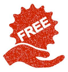 Free present grunge icon vector