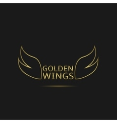 Golden wings vector
