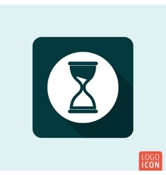 Hourglass icon isolated vector