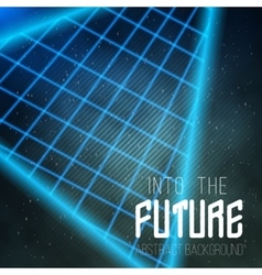 Into The Future Music Abstract Poster Cover 1980s vector image vector image