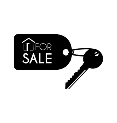key for sale keychain icon vector image
