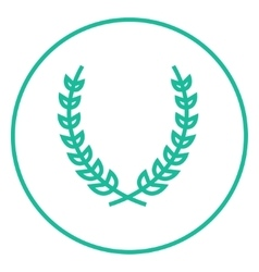 Laurel wreath line icon vector image