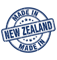 Made in new zealand blue grunge round stamp vector