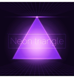 Neon triangle vector
