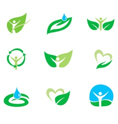 organic set vector image vector image