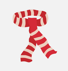 Red striped scarf vector