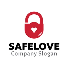 Safe Love Design vector image vector image