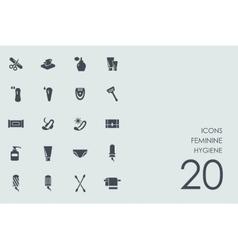 Set of feminine hygiene icons vector
