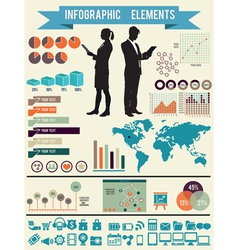 Set of infographic elements for design vector