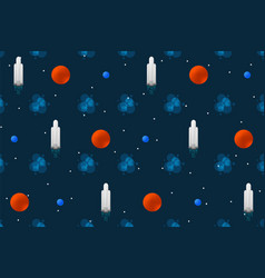Space pattern cartoon rocket design concept vector