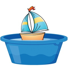 Toy Sail boat vector image vector image