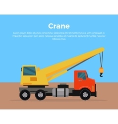 Truck crane banner flat design vector