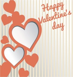 Valentines day card love symbol vector image
