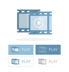 Video frame icon flat vector image vector image