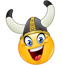 viking emoticon vector image vector image