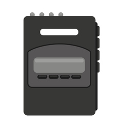Retro player music isolated icon vector