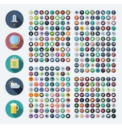 Flat design icons for business and technology vector