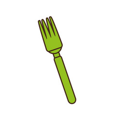 Fork cutlery kitchen cooking image vector