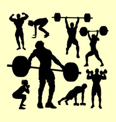 Fitness gymnastic sport silhouette vector