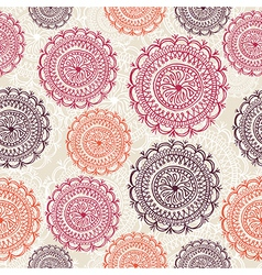 Vintage circle elements seamless pattern vector