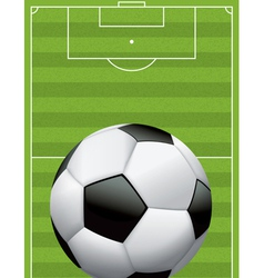 Soccer ball football and field vector