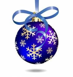 Christmas ball illustration vector image
