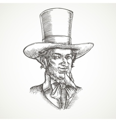 Gentlemens portrait Vintage vector image
