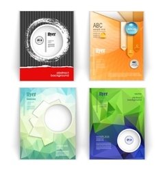 Set of modern business booklets vector