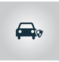 Vehicle shield over gray background vector