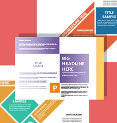 Corporate flyer template vector