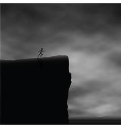 Cliff runner vector image