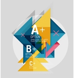Color geometric shapes composition for option vector