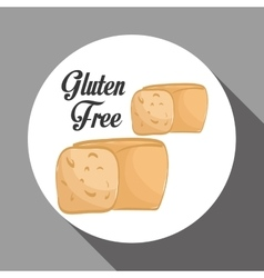 Flat of gluten free design vector