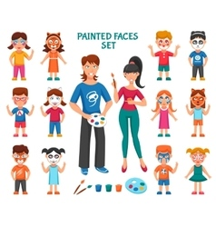 Face Paint For Children Set vector image