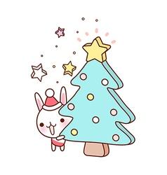 A christmas tree vector image vector image