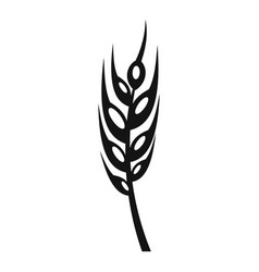 Barley spike icon simple style vector