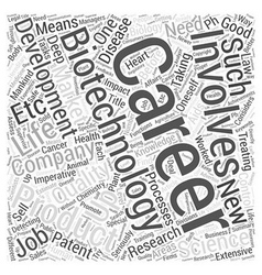 Biotechnology Careers Word Cloud Concept vector image vector image