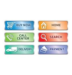 Button e commerce set vector image