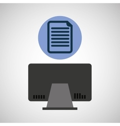 Computer device document network icon vector