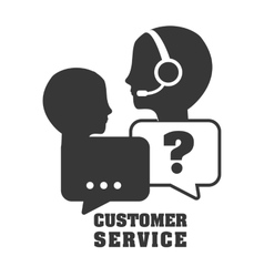 Customer support service icons vector