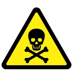 deadly danger sign vector image vector image