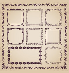 decorative calligraphic frames in vintage style vector image