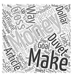 Does Money Make Money text background wordcloud vector image