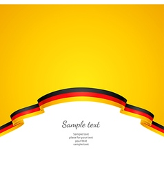 flag background germany vector image