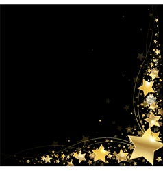 frame of gold stars vector image vector image