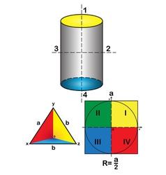 Geometrical drawings vector image